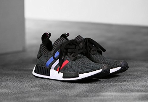Adidas NMD_R1 Primeknit Schuhe core black-core red-footwear white - 48
