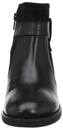 Femme Bottines Makayla Leather Noir Lotus Noir Blk Lth Black 5Eq76d