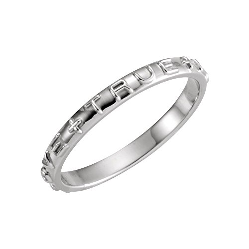 14K White Gold True Love Chastity Ring with Packaging Size 5 (Love True Chastity Gold Ring)