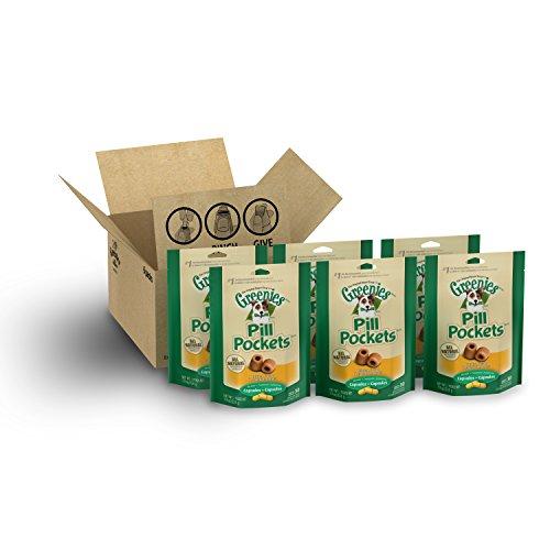 GREENIES PILL POCKETS Soft Dog Treats, Chicken, Capsule, 7.9 oz. (Pack of 6)
