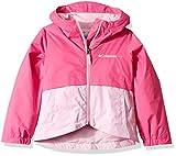 Columbia Girls' Big Rain-Zilla Jacket, ice/Pink Clover, Medium