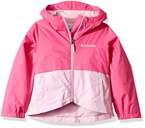 - Columbia Girls' Big Rain-Zilla Jacket, ice/Pink Clover, Medium