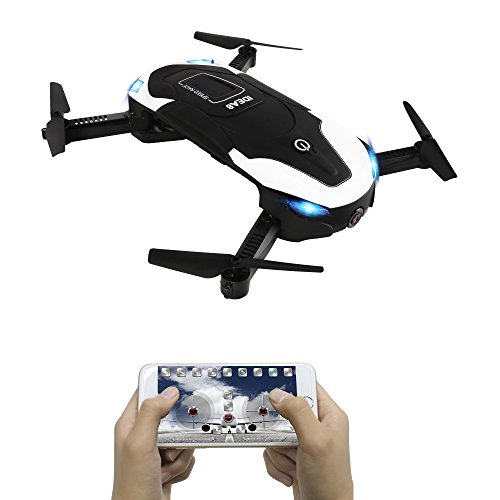 le-idea IDEA8 Drones Quadcopters 2.4Ghz 6 Axis,Optical Flow Position,Altitude Hold,Headless Mode,Track Fly,Gravity Sensor,with Camera Wifi 0.3MP HD FPV for Selfie Drone without Remote Controller ¡­