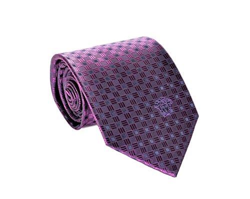 Versace Men's Geometrical Square Patterned Silk - Versace Loop