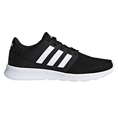 adidas Women's Cloudfoam QT Racer Sneaker, Black/White/Carbon, 9 M US