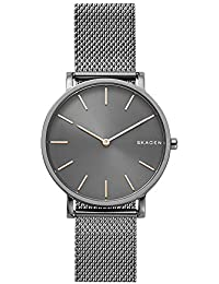 Mens Hagen Quartz Stainless Steel Casual Watch, Color:Grey (Model: