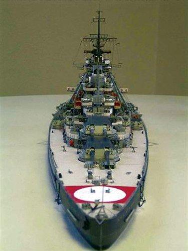 Amazon com: HMV 3964 Papermodel Battleship Bismarck with camouflage