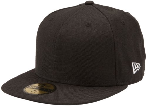 New Era Original Basic Black 59Fifty Hat, Black, 7 1/4 ()
