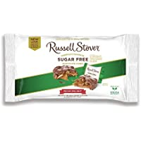 Russell Stover Sugar-Free Pecan Delight, 10 Ounce Laydown Bag, Sugar-Free Candy, Pecans and Buttery Caramel Covered In Chocolate Candy, Sweetened with Stevia
