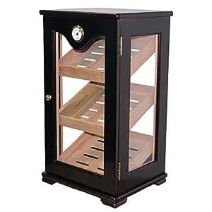 Upright Wooden Display Cabinet Humidor (75-100 Cigars)