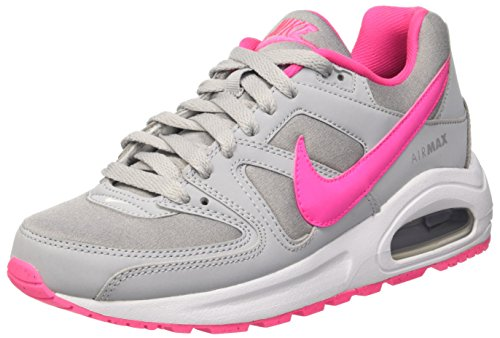 Nike Air Max Command Flex (Gs), Zapatillas De Running para Mujer Gris (Wolf Grey / Pink Blast-White)