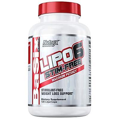 Nutrex Research Lipo-6 Stim-Free, 120 Count