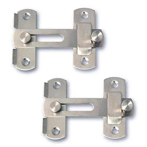 Alise Stainless Steel Gate Latch Door Holder Flip Latch Pet Safety Door Lock,Brushed Nickel