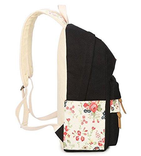 OPSUN - Bolso mochila  para mujer Taille Unique noir 5