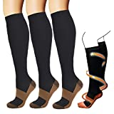 Compression Socks For Women & Men(3 Pairs)-Best For Running,Athletic,Medical,Pregnancy and Travel-15-20mmHg