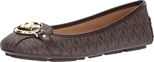 Michael Michael kors Women's Fulton Moccasin (8 M US, Brown Mini MK Logo Coated - Us Michael Kors