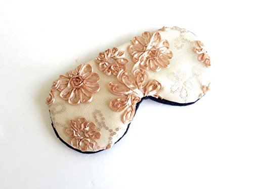 Handmade Lace Sleep Mask- Lightweight Comfortable Eye Mask-Great for Travel, Shift Work, Meditation, Migraines-Blindfold-Sleep Satisfaction Guaranteed…