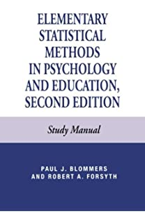 Amazon.com: Elementary Statistical Methods in Psychology and ...