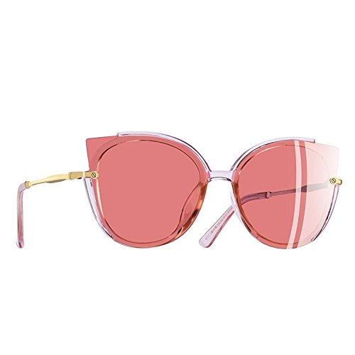 Gafas Moda único polarizadas sol Dama de de Mujer de C1gris gafas ojo sol C2Pink TIANLIANG04 gato Fotograma UV400 5CEw8