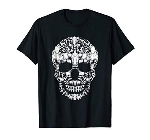 Cow Skull Shirt Skeleton Halloween Costume Idea Gift