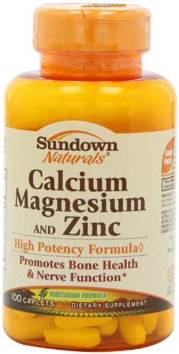 (Sundown Naturals Calcium, Magnesium and Zinc Supplement, 100 Caplets (Pack of)