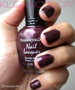 Amazon.com : Kleancolor Nail Lacquer Wicked Plum 100 : Nail Polish ...