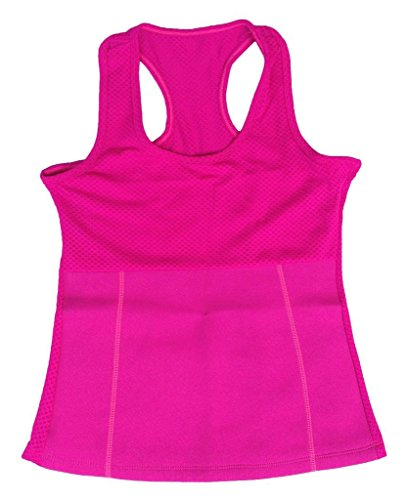 Roseate Women's Heatgear Tank Top Waist Trimmer Sweat Enhancing Neoprene Thermal Vest Weight Loss Slimming Sauna Shirt Pink Medium