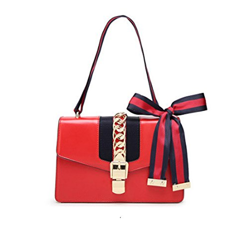 Beatfull Mini Handbags for Women, Fashion Shoulder Bag Cross Body Bag with a Bow Tie (Red)