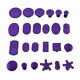 Cuque 24Pcs Repair Tools Paintless Dent Nylon Glue Puller Tabs Removal Tool Kit Auto Car Body Dent Repair Set for Car Repair Slide Hammer Hail Removal Purple Universal