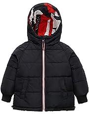 Barn dunjacka med huva, pojkar flickor vinterjacka dubbelsidig vinterkappa snödräkt kläder kläder varma rockar mode gåva 1–10 år