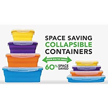 Amazon Com Flat Stacks Collapsible Food Storage Boxes