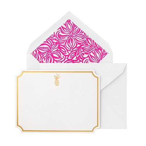 Lilly Pulitzer Women's Correspondence Cards Box Set of 10, Swirling Floral