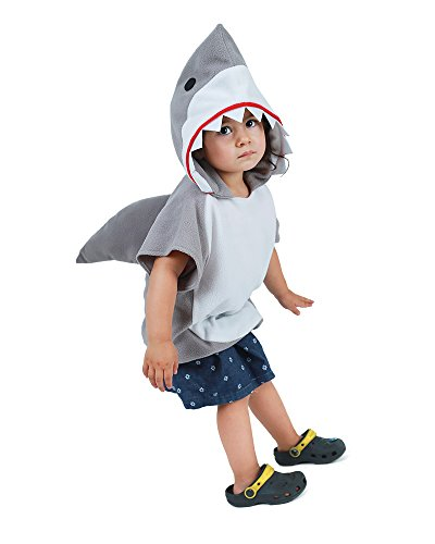 Miccostumes Kids Little Shark Halloween Cosplay Costume Mascot Hoodie (Shark Child Costume)