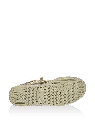 Guld Ruskind Sneakers Kvinder Metallisk Knitren Lotto Autograf FBIqaa