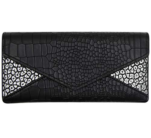 Women Alligator Pattern Wallet Embossed Long Clutch Handbag with Small Purse & Card Holders