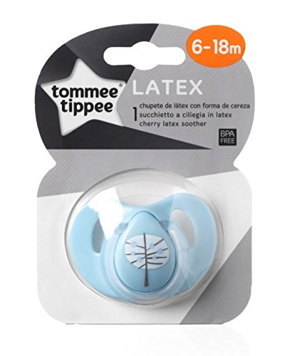 Tommee Tippee Closer to Nature - Chupete de látex, para 0-6 meses, color azul