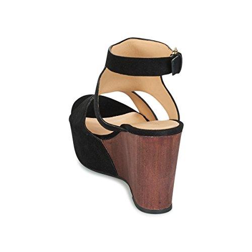 Cafènoir Crosta Sandali Nero Mhd626 Caviglia Con Cinturino Alla In UUrEwf