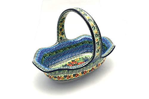Polish Pottery Basket - Large Oval - Unikat Signature - U4400