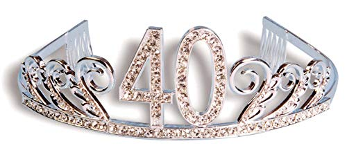 Forum Novelties Rhinestone Encrusted 40th Happy Birthday Tiara