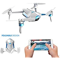 Koeoep Take It Easy 3-Aixs EIS Foldable Pocket Selfie Drones with 13MP HD Camera Smartphone and Tablet Control GPS Optical Flow Altitude Hold Quadcopter