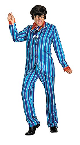 Austin Powers Carnaby Suit Adult Costume 42 Adult Mens Costume (Adult Austin Powers Costume)