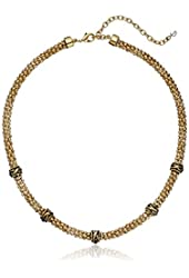 Napier High Low Gold-Tone Station Collar Necklace, 19""