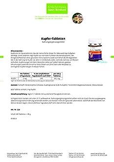 Kupfer Tabletten Bild