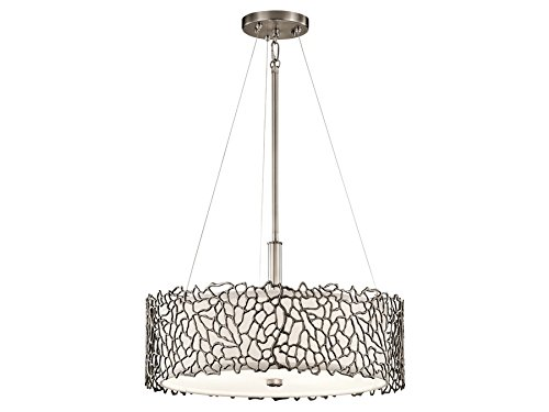 Light Classic Pewter 3 (Kichler 43346CLP Silver Coral Pendant/Semi-Flush 3-Light, Classic Pewter)
