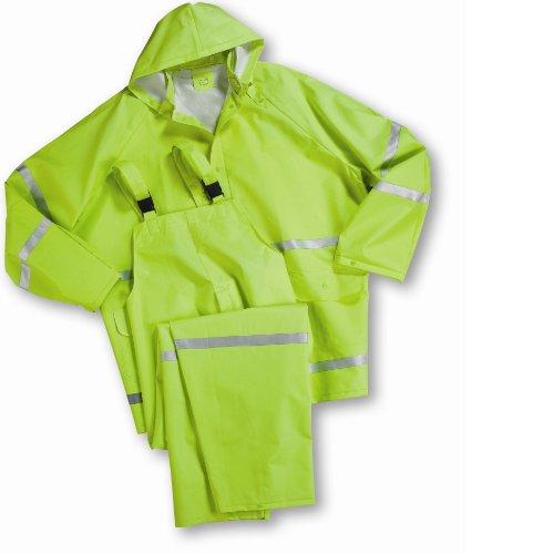 (West Chester 4031/4XL 35 mil PVC Rain suit Class 1, 4XL, Lime (1 Suit))