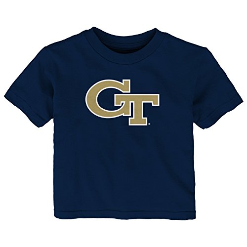 NCAA Georgia Tech Infant Primary Logo Short Sleeve Tee, 18 Months, Dark Navy