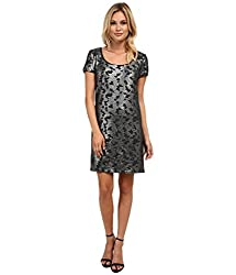 Laundry by Shelli Segal Womens Sequined Dress, Charcoal, XS