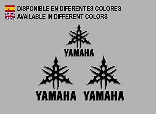 Ecoshirt 1H-9PCZ-OV1D Pegatinas Tmax Xmax Fz6 R1 R6 F204 Stickers Aufkleber Decals Moto GP Bike Negro