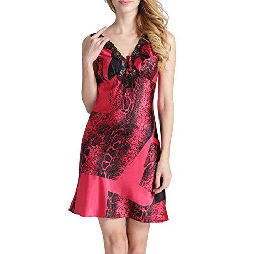 Abito Fashion Da Con Saoye Donna Notte Giovane Maniche Rosso Lunghe In Senza Pigiama Velluto Sera 5Bwpxqp