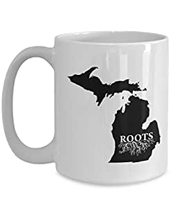 Home Roots State Michigan Coffee Mug, Tea Cup